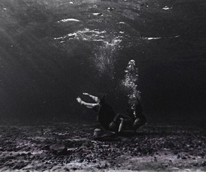 blackandwhite, conceptual, and drowning image