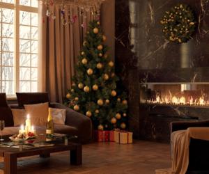 christmas, room, and tree image