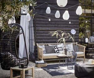 black, cosy, and garden image