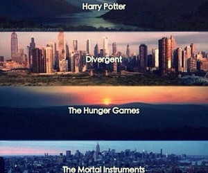 divergent, harry potter, and the mortal instruments image