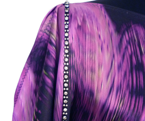evening dress, party dress, and purple dress image
