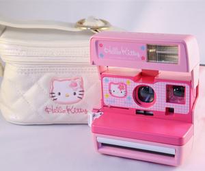 hello kitty, pink, and camera image