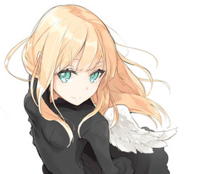 angel, black, and anime image