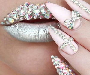 nails, lips, and pink image