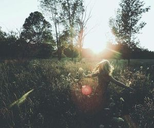 girl, nature, and peace image