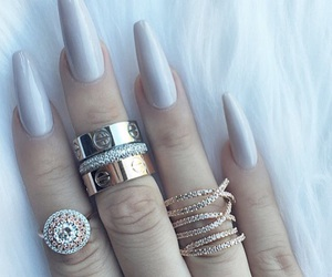 nails, rings, and classy image