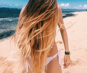beach, cabelo, and hair image