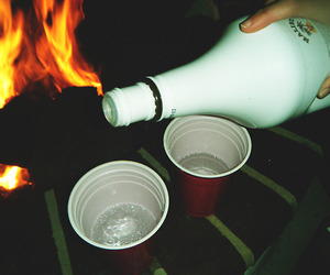 alcohol, drinking, and fire image
