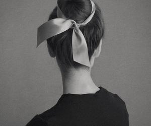 bun, hair, and ribbon image