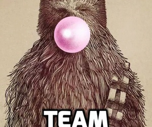 star wars, chewie, and pink image