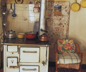 kitchen, vintage, and old image