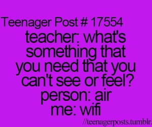 funny, wifi, and teenager post image