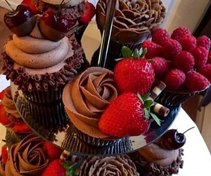 chocolate, food, and rose image