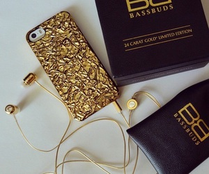dope, gold, and iphone image
