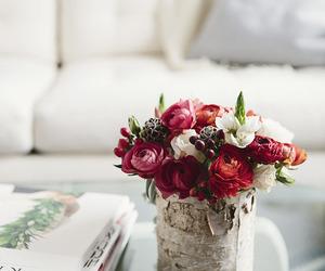 flowers, white, and magazine image