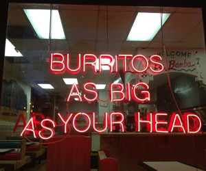 burrito, food, and neon image