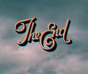 the end and vintage image