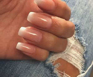 fingers, hand, and jeans image