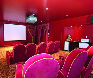 cinema, dream home, and room image