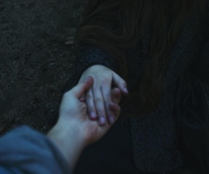 love, hands, and grunge image