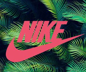 nike, pink, and wallpaper image