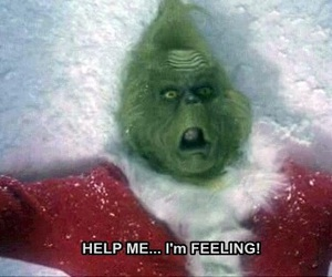 grinch, christmas, and feelings image