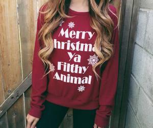christmas, fashion, and hair image