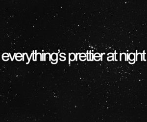 night, quotes, and pretty image