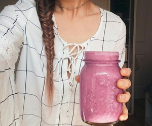 braids, brunette, and fit image