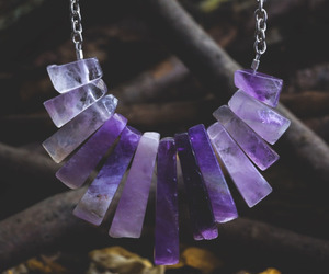 purple and necklace image