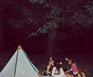 girl, teepee, and tent image