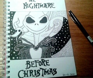disney, drawing, and the nightmare before christmas image