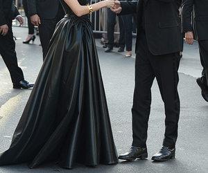 Angelina Jolie, black, and brad pitt image