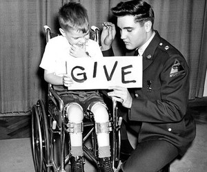 Elvis Presley, give, and king image