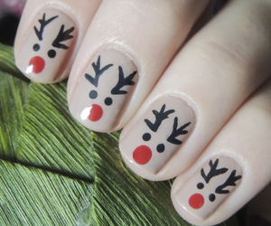 nails, celebration, and christmas image