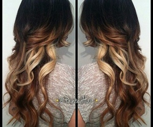 brown hair, fashion, and ombré image