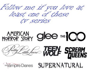 glee, supernatural, and teen wolf image