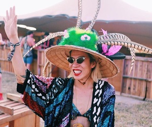 fashion, festival, and hat image