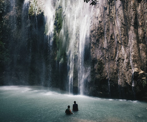 waterfall, nature, and travel image
