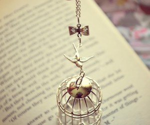 bird, jewelry, and book image