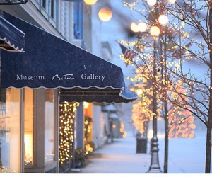 galerie, lights, and winter image