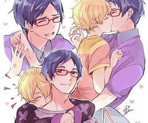 kiss, yaoi, and rei x nagisa image