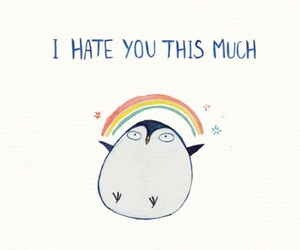 hate, rainbow, and funny image