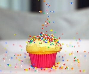 colors, cupcake, and food image