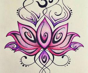 lotus, pink, and purple image