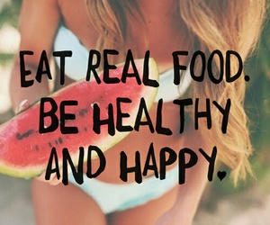 happy, lifestyle, and eat real image