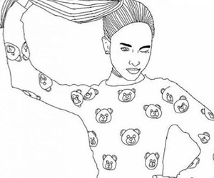 outline, girl, and ariana grande image