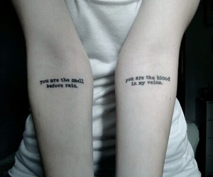 tattoo, quotes, and blood image