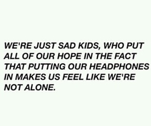 sad, music, and quotes image