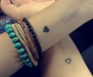 best friends, heart, and hipster image